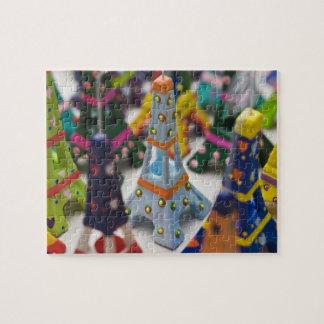 France, Paris, Miniature Eiffel Towers Jigsaw Puzzle