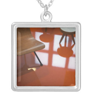 France, Paris, Museum of Decorative Art, exhibit Silver Plated Necklace