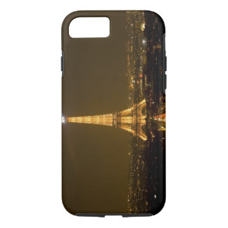 France, Paris. Nighttime view of Eiffel Tower iPhone 8/7 Case