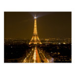 France, Paris. Nighttime view of Eiffel Tower Postcard