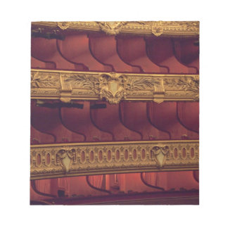 France, Paris. Partial view of balcony seating Notepad