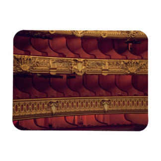 France, Paris. Partial view of balcony seating Rectangular Photo Magnet