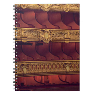 France, Paris. Partial view of balcony seating Spiral Notebook