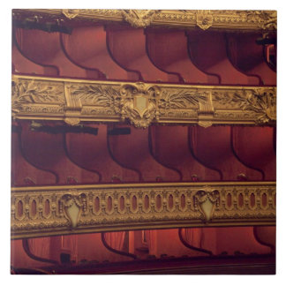 France, Paris. Partial view of balcony seating Tile