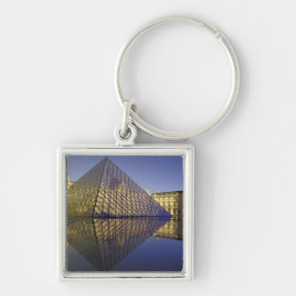 FRANCE, Paris Reflection, Pyramid. The Louvre Key Ring