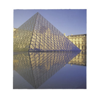 FRANCE, Paris Reflection, Pyramid. The Louvre Notepad