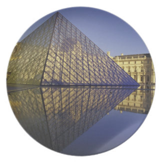 FRANCE, Paris Reflection, Pyramid. The Louvre Plate