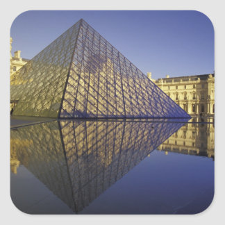 FRANCE, Paris Reflection, Pyramid. The Louvre Square Sticker