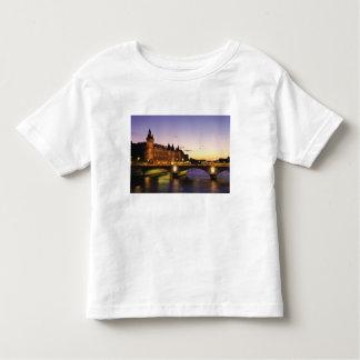 France, Paris, River Seine and Conciergerie at Toddler T-Shirt