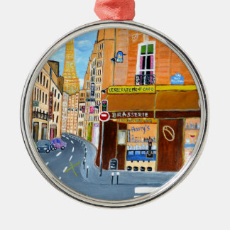 France, Paris,Rue Dominique Christmas Ornament