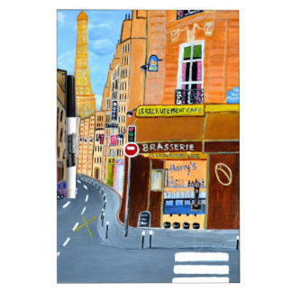 France, Paris,Rue Dominique Dry Erase Board