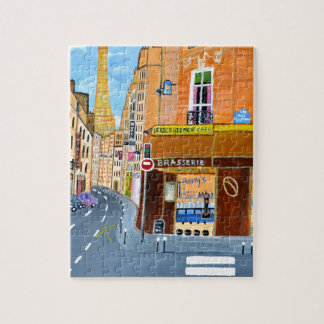 France, Paris,Rue Dominique Jigsaw Puzzle