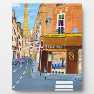 France, Paris,Rue Dominique Plaque