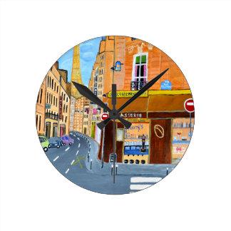 France, Paris,Rue Dominique Round Clock