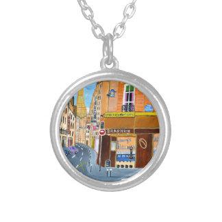 France, Paris,Rue Dominique Silver Plated Necklace