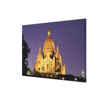 France Paris Sacré-Coeur at dusk Stretched Canvas Prints