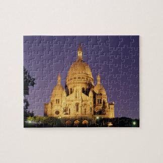 France, Paris, Sacré-Coeur at dusk. Puzzles