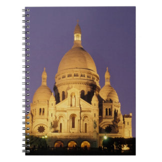 France, Paris, Sacré-Coeur at dusk. Spiral Notebook