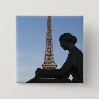 France, Paris, Statue of woman in front of 15 Cm Square Badge