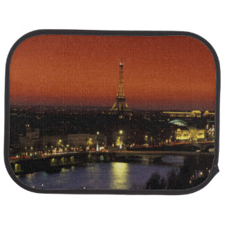 France, Paris Sunset view of Eiffel Tower and Car Mat