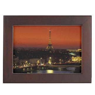 France, Paris Sunset view of Eiffel Tower and Keepsake Box