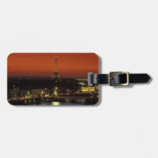 France, Paris Sunset view of Eiffel Tower and Luggage Tag