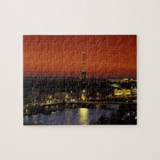 France, Paris Sunset view of Eiffel Tower and Puzzles