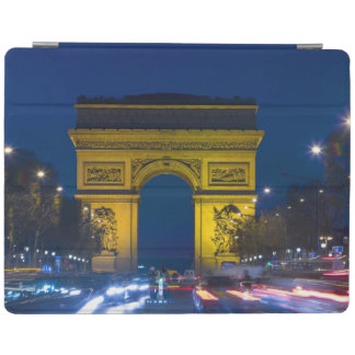 France, Paris. The Arc de Triomphe and the iPad Cover