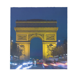 France, Paris. The Arc de Triomphe and the Notepad