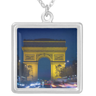France, Paris. The Arc de Triomphe and the Silver Plated Necklace
