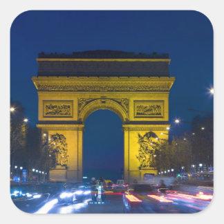France, Paris. The Arc de Triomphe and the Square Sticker