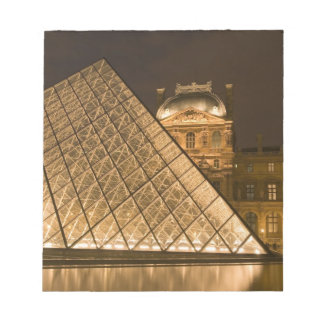 France, Paris. The Louvre at twilight. Credit 2 Notepad