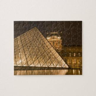 France, Paris. The Louvre at twilight. Credit 2 Puzzle