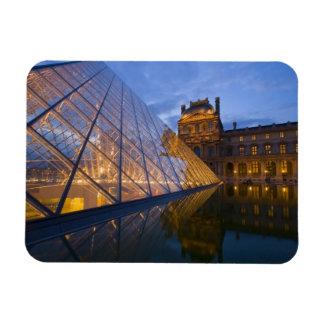 France, Paris. The Louvre at twilight. Credit 3 Rectangle Magnet