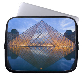 France, Paris. The Louvre at twilight. Credit Laptop Computer Sleeve