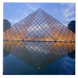 France, Paris. The Louvre at twilight. Credit Tile
