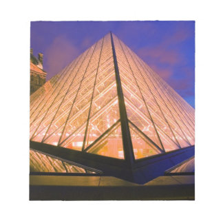 France, Paris. The Louvre museum at twilight. 2 Notepad