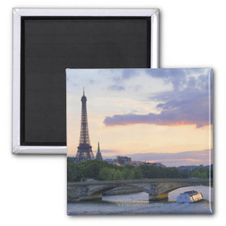 France,Paris,tour boat on River Seine,Eiffel Magnet