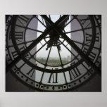 France, Paris. View across Seine River through Poster