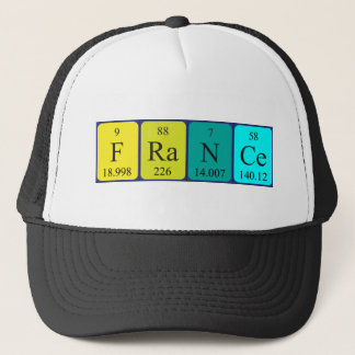 France periodic table name hat