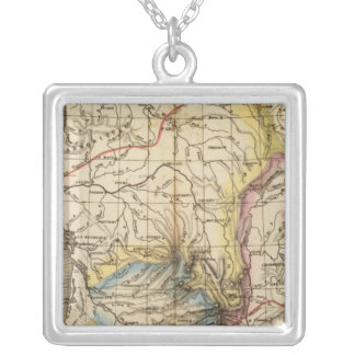 France physique silver plated necklace
