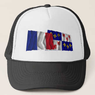 France & Picardie waving flags Trucker Hat