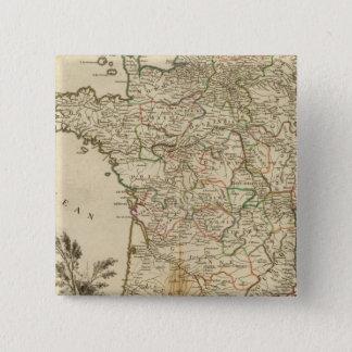 France Postal Roads 15 Cm Square Badge