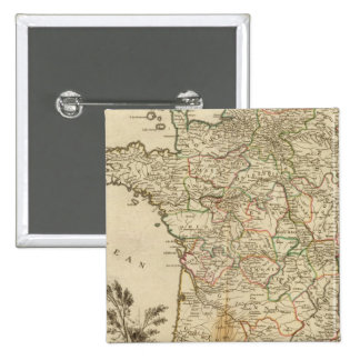 France Postal Roads 15 Cm Square Badge