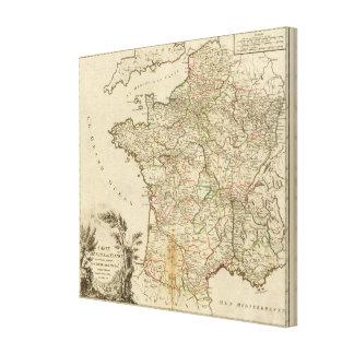 France Postal Roads Canvas Print