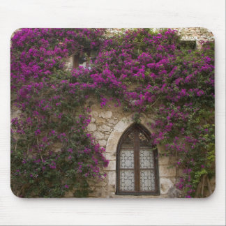 France, Provence, Eze. Bright pink Mouse Mat