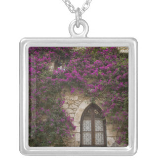 France, Provence, Eze. Bright pink Silver Plated Necklace