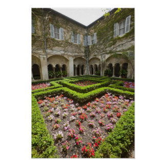 France, Provence, St. Remy-de-Provence. Garden Poster