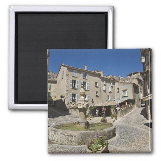 France, Provence, Valensole. Tourists explore Magnet