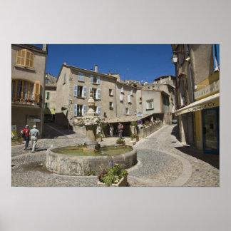 France, Provence, Valensole. Tourists explore Poster
